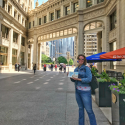 Urban Watercolor Sketching Experience Guest at Wrigley Building