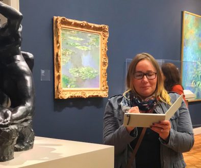 Sketching at the Art Institute Museum