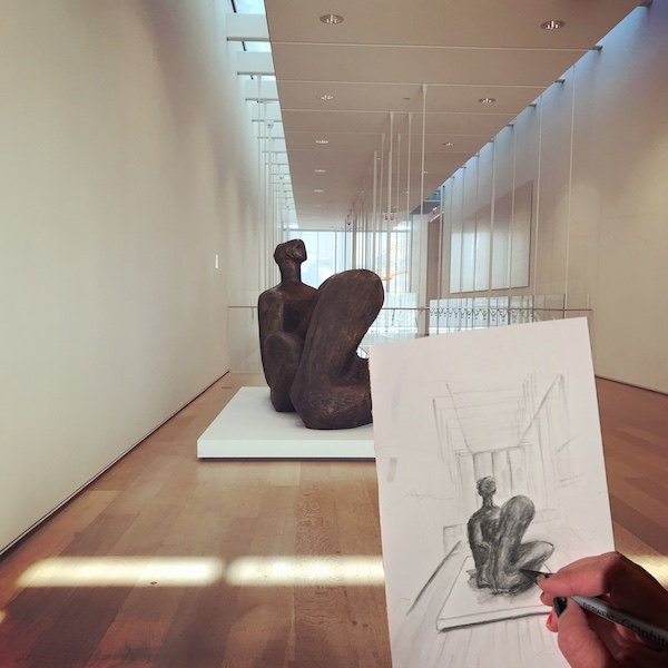 Sketching at the Art Institute Chicago