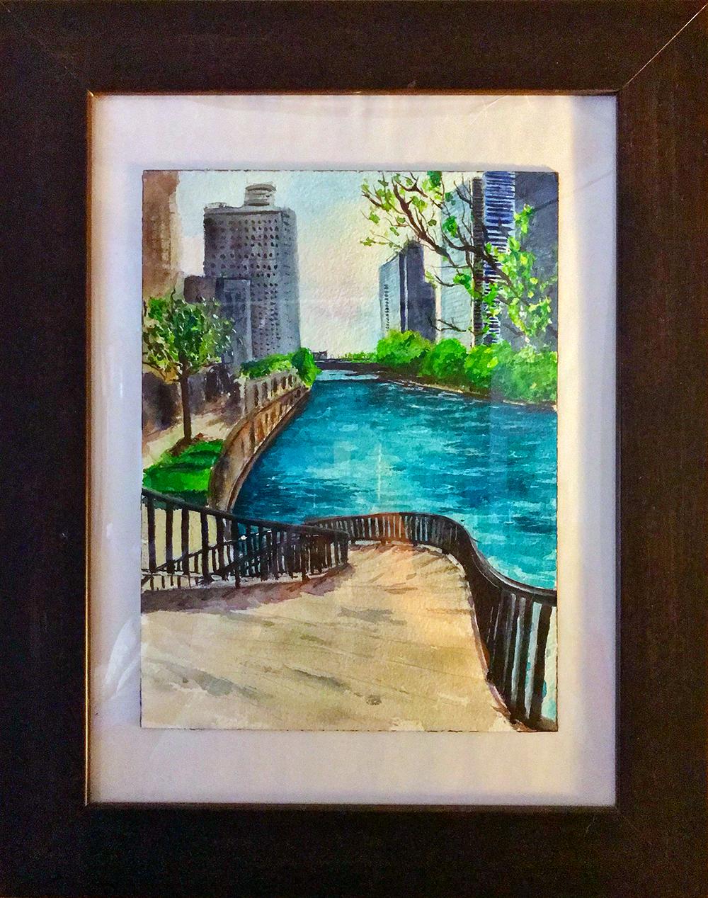 Chicago River Walk Curved Steps