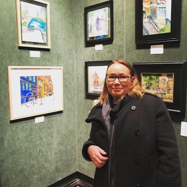 Plein Air Exhibit Year End 2018 Watercolorist Monika Arturi
