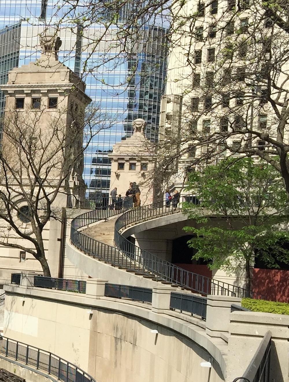 Chicago Riverwalk Spiral Staircase