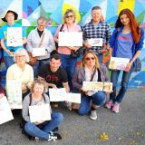 Monika Arturi with the USK Chicago group urban sketching
