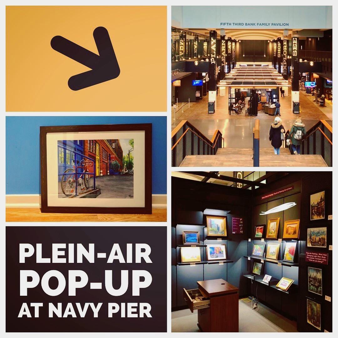 Plein Air Pop Up Exhibit at Navy Pier