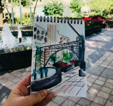 Urban Sketch from a guest