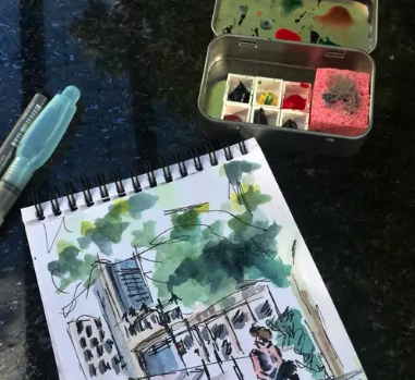 Urban Sketch from my AirBnb Guest 05
