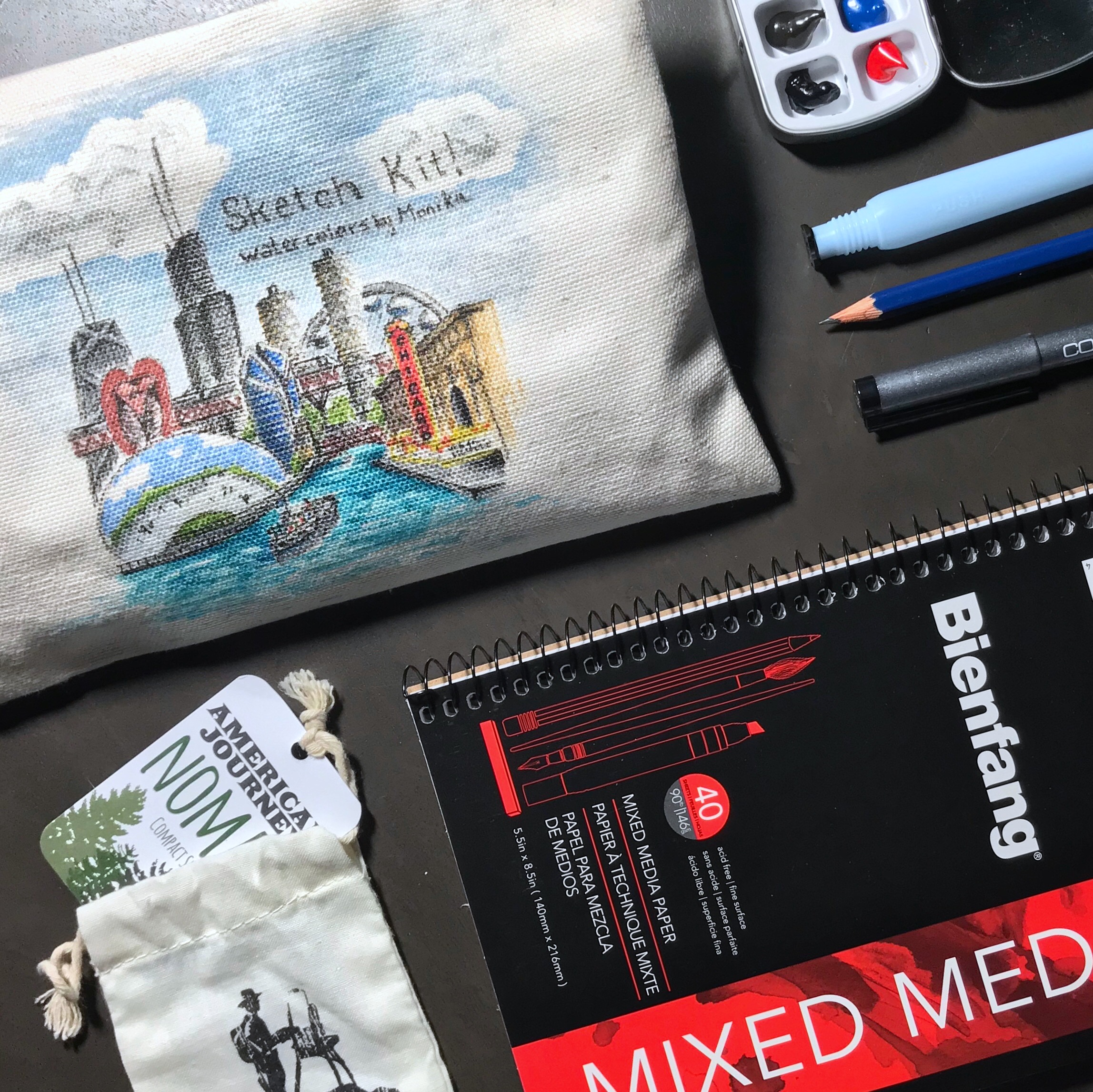 Urban Watercolor Sketching Experience on airBnb by Monika Arturi