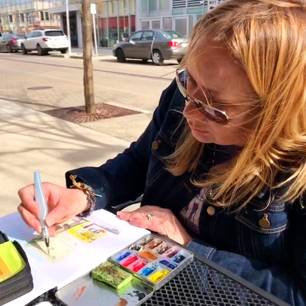 Urban Sketching in Columbus Indiana