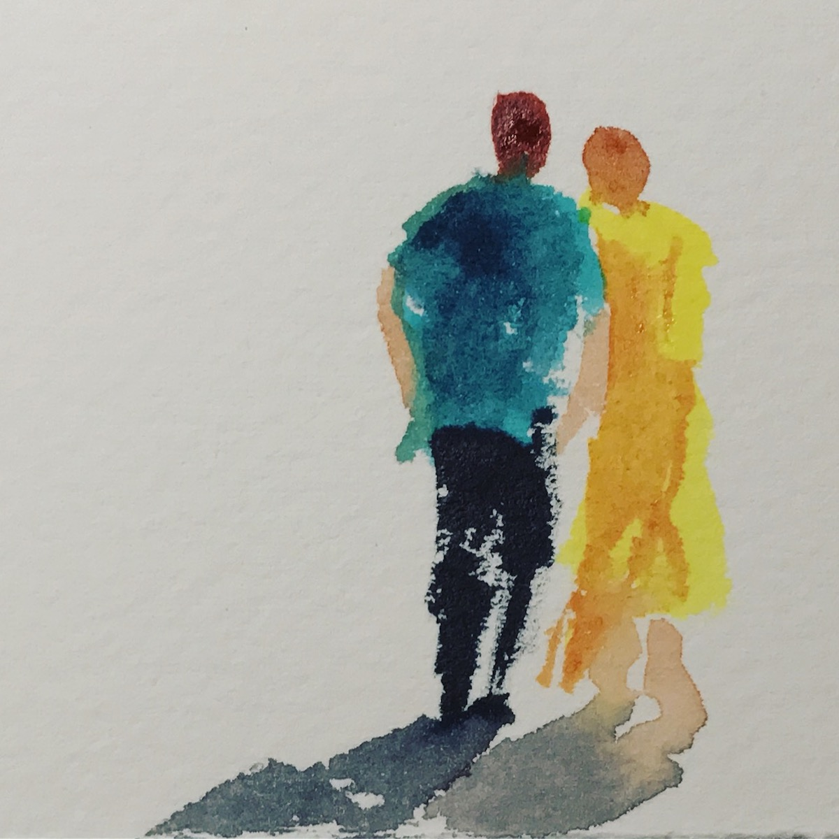 Watercolor exercise - painting people