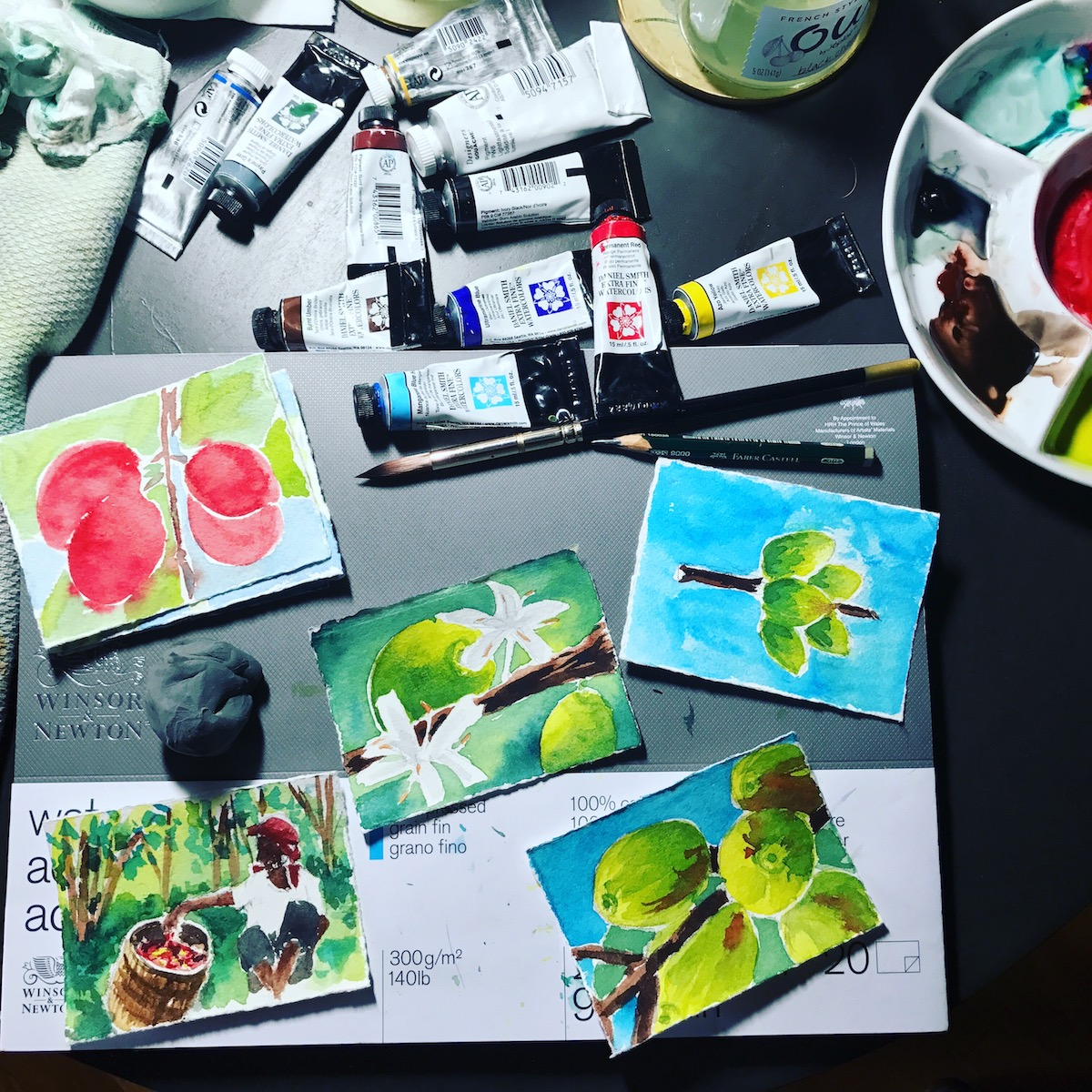 Watercolor exercise - Small paintings