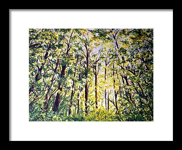 A Walk in the Forest - Watercolor Painting for Sale by Monika Arturi