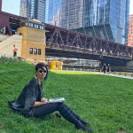 Urban Watercolor Sketching Experience Guest at the Chicago River Walk