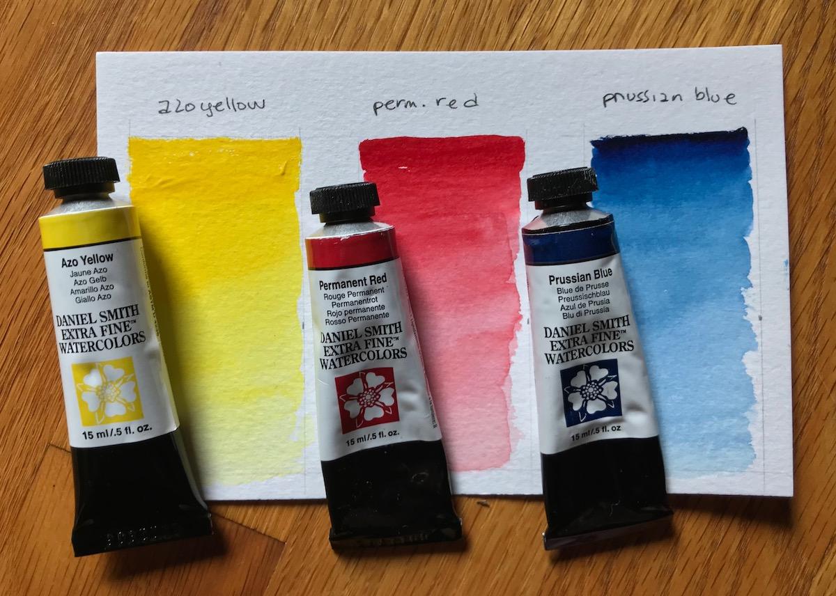 Primary colors - Watercolor paints