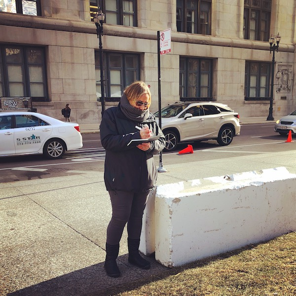 Sketching on location downtown Chicago