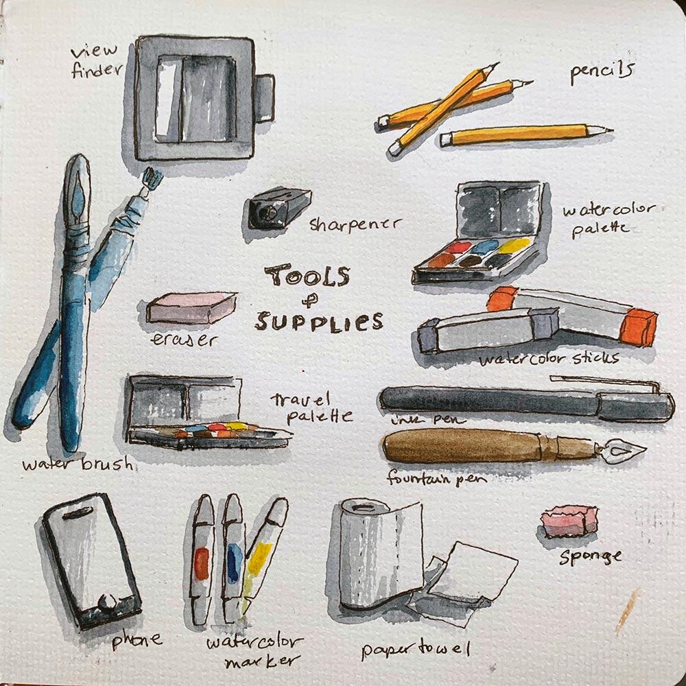 Sketch Chicago - Urban Sketching Supplies