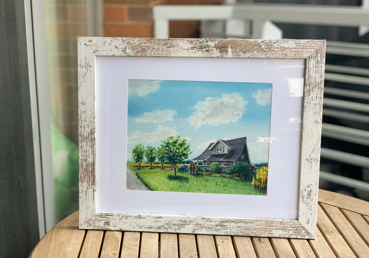 Watercolor painting - house