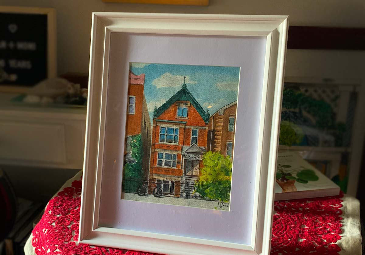 Watercolor Commission Chicago - House