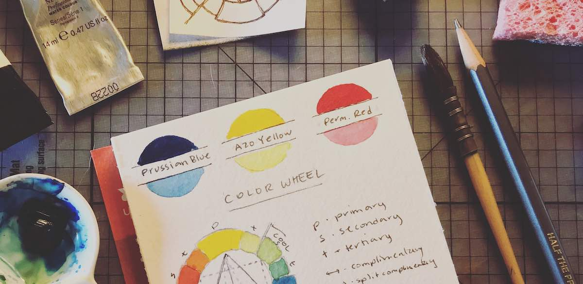 Watercolor primary colors