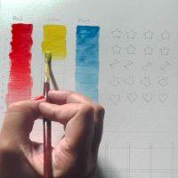 Paint values watercolor exercise